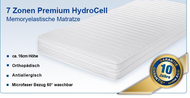 7 zonen memoryelastische hydrocell premium komfort. Black Bedroom Furniture Sets. Home Design Ideas